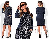 Платье с принтом в больших размерах s-1515907