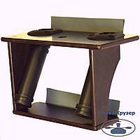 Столик для эхолота и двух удилищ с креплением на борт надувной лодки пвх, фото 1