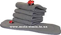 Многоразовый вкладыш 5- слойный в многоразовый подгузник/Бамбук вугільний 5-шаровий