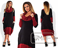 Длинное двухцветное платье в больших размерах s-1515908