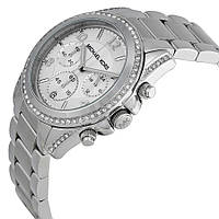 Женские часы Michae-l Kor-s MK5165 Parker Silver-Tone Crystal Chrono , фото 1