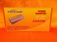 Преобразователь напряжения konnwei 2000 w 12-220
