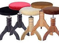 Обертовий стілець для піаніно (плюш)