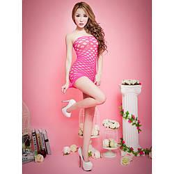 Сексуальное женское мини платье розовый цвет