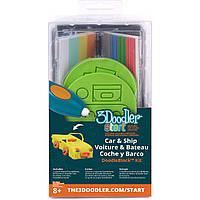 Набор аксессуаров для 3D-ручки ТРАНСПОРТ 3Doodler Start - 48 стержней, 2 шаблона (3DS-DBK-VE)