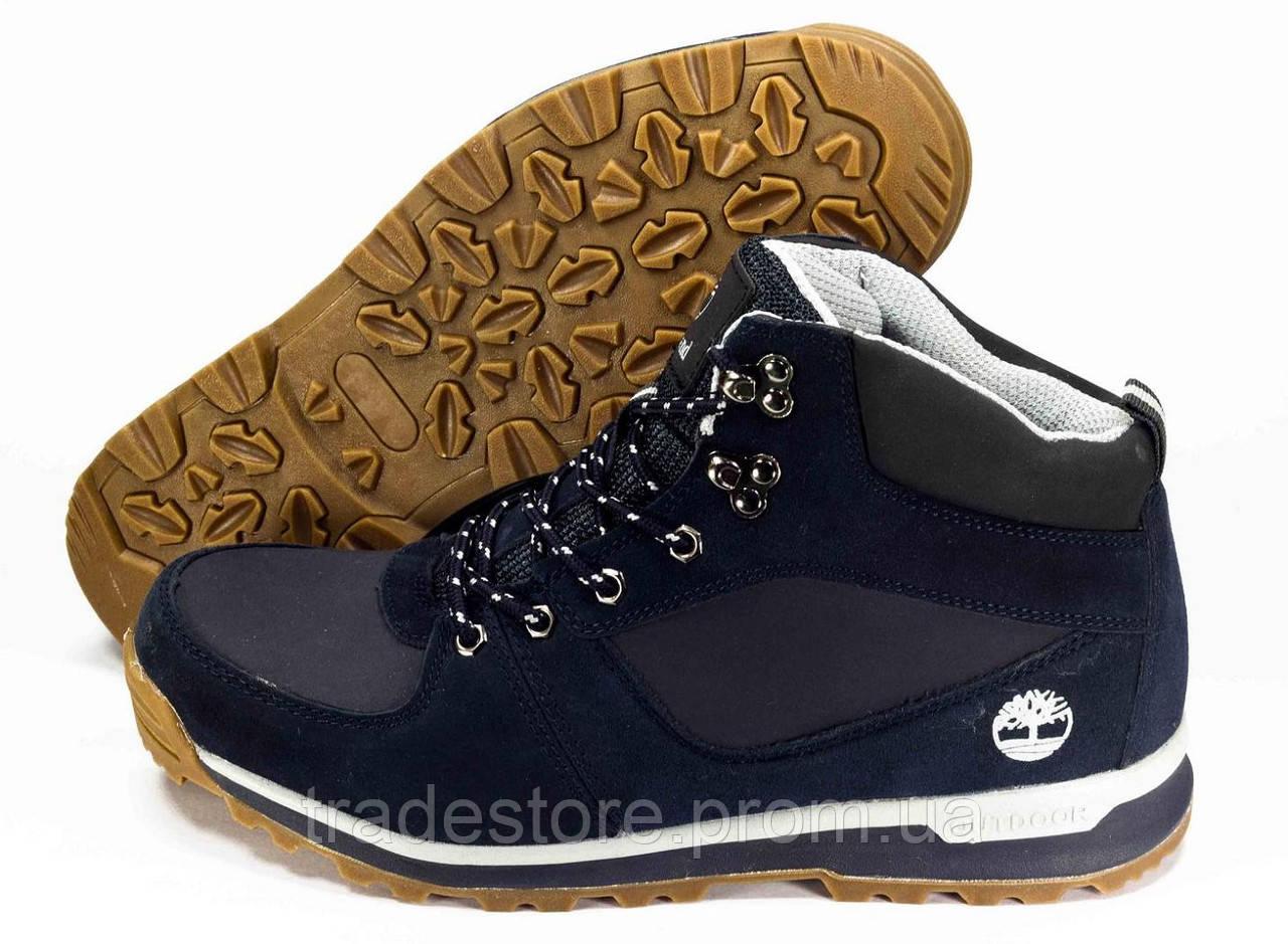 Мужские зимние ботинки в стиле Timberland синий