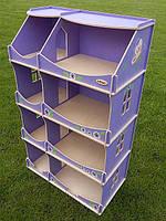 Кукольный домик-шкаф с росписью (сиреневый) TM Hega