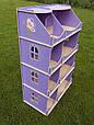 *Кукольный домик-шкаф с росписью (сиреневый) Украина TM Hega, фото 3