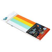 Набор стержней для 3D-ручки МИКС 3Doodler Start - 24 шт: белый, мятный, желтый, оранжевый (3DS-ECO-MIX1-24)