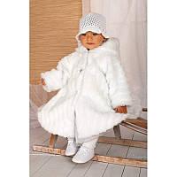 Шубка белая на девочку Польша Krasnal (C004)