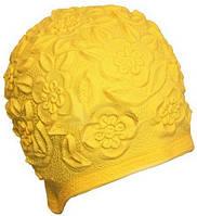 Женская шапочка для плавания BECO желтый 7350 2