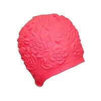 Женская шапочка для плавания BECO розовый 7350 4