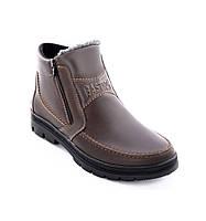 Ботинки мужские Bastion 072к из натуральной кожи коричневого цвета