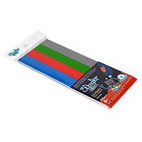 Набор стержней для 3D-ручки МИКС 3Doodler Start - 24 шт: серый, голубой, зеленый, красный (3DS-ECO-MIX2-24)