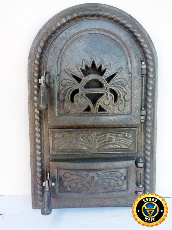 Печная, чугунная дверца Королевская