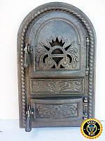 Печная дверца Королевская, чугунные дверки для печи и барбекю