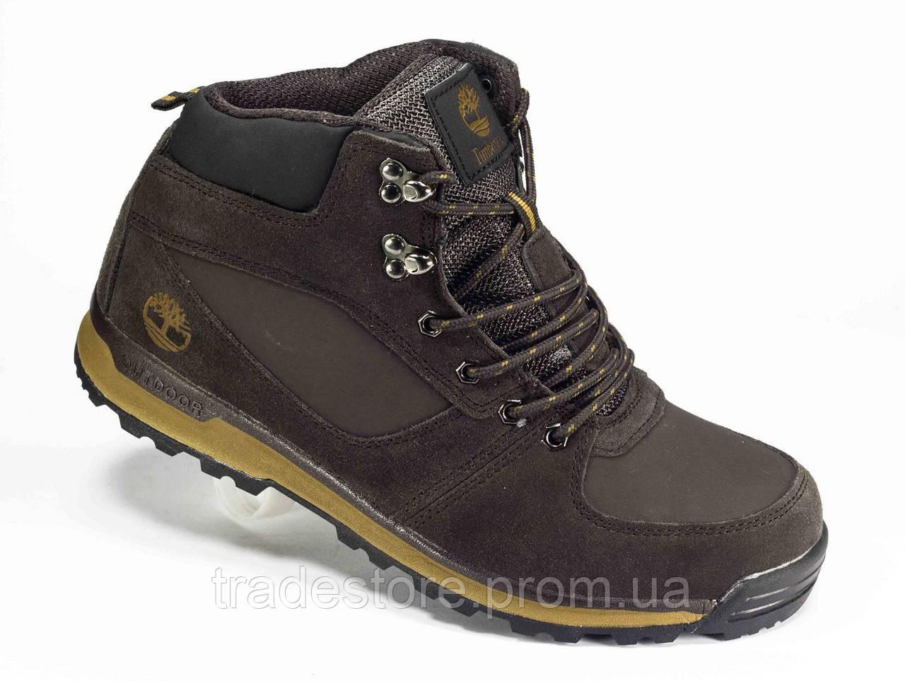 Мужские зимние ботинки в стиле Timberland коричневый