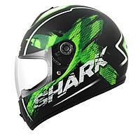 Мотошлем Shark S600 Exit Mat черный зеленый XL