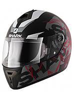 Мотошлем Shark S600 Pinlock Volt Mat черный серый красный L