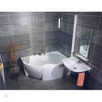 Угловая акриловая ванна правосторонняя RAVAK (РАВАК) ROSA II PU Plus160x105 CL210P0000