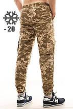 Утепленные штаны карго Ястребь, пиксель, камуфляж, фото 2