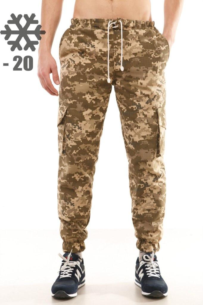 82293e5c03eb Утепленные штаны карго Ястребь, пиксель, камуфляж, цена 549 грн ...