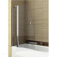 Шторка на ванну двухэлементная прозрачная, профиль хром, 100х140 см. Aquaform (Акваформ) DELI -170-06975