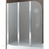 Шторка на ванну трехэлементная, стекло-сатинато, профиль - хром,1200х1400 мм Aquaform (Акваформ) Modern 3 170-06979