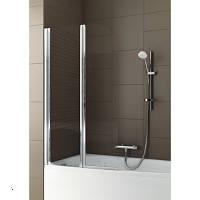 Шторка на ванну двухэлементная прозрачная, профиль матовый хром, 81х140 см Aquaform (Акваформ) Modern 2 170-06963
