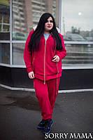 Женский теплый спортивный костюм в батальных размерах q-1015922