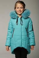 Модная яркая куртка для девочки, зима 32,34,36,38,40