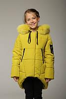 Модная яркая куртка для девочки, зима