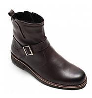 Ботинки кожаные мужские Bastion 073к классические на змейке с декоративной пряжкой