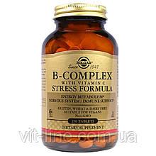 Solgar, Комплекс вітамінів B, з вітаміном C, формула проти стресу, 250 таблеток