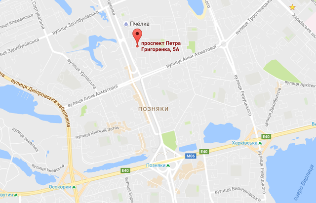 Зал Фаворит на карте Киева