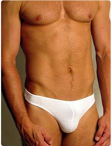 Мужские трусы-стринги белые Doreanse 1280