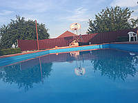 Голубая, синяя пленка для бассейна, пруда из Германии, 30 лет службы!