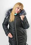 Женская куртка на холлофайбере батал, фото 4