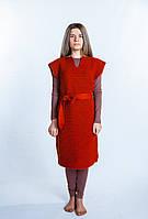 Платье вязаное гончарное