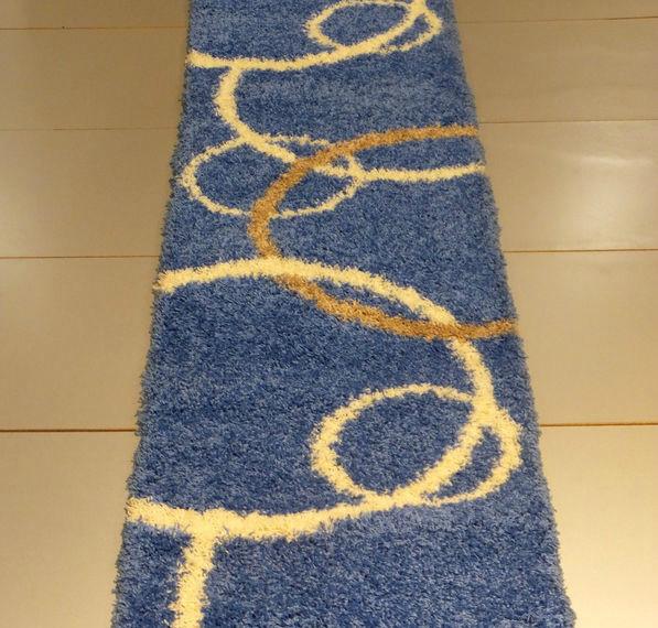 Ковровые дорожки  Shaggy Gold 8018 BLUE