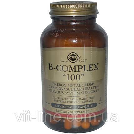 """Комплекс витаминов группы B """"100"""" Solga 100 растительных капсул, фото 2"""