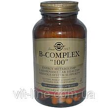 """Solgar, Комплекс вітамінів групи B """"100"""", 100 рослинних капсул"""