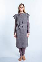 Платье вязаное кедр
