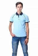 Футболка Polo Эгоист - 7035 Голубой