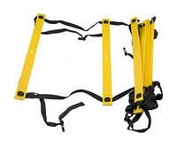 Драбинка для тренування швидкості 12 сходинок C-4111 (пластик, PL, чохол PL, довжина-6м, 4мм)
