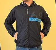 Мужская спортивная куртка темно-синий Reebok 9408 код 268б