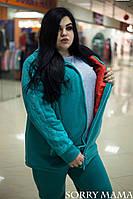 Женский теплый спортивный костюм в больших размерах y-1015926