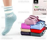 Подростковые махровые носки с начёсом Korona C3027-1 27-32. В упаковке 12 пар