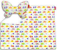 Подарочный набор Dwinguler Butterfly Elephant подушка и одеяло для коляски (PDNNB1100)