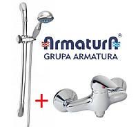 Комплект для душа, смеситель + душевой гарнитур KFA ARMATURA KROMA 546-030-00 + Calipso 841-170-00